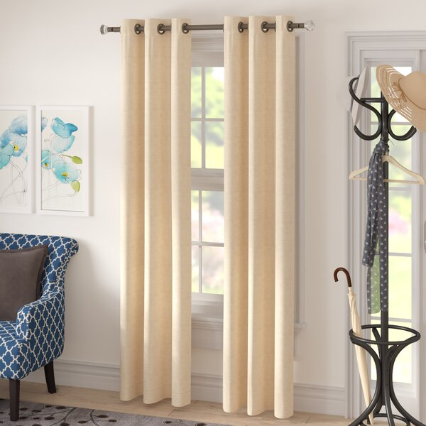 Textured White Curtains | Wayfair For Thermal Textured Linen Grommet Top Curtain Panel Pairs (View 40 of 42)