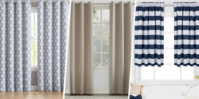 The 18 Best Blackout Curtains To Help You Sleep At The Night With Regard To Ocean Striped Window Curtain Panel Pairs With Grommet Top (#37 of 41)