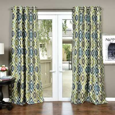 The Curated Nomad Ames Sateen Woven Blackout Grommet Top Inside The Curated Nomad Duane Jacquard Grommet Top Curtain Panel Pairs (#30 of 50)