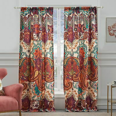 The Curated Nomad Ames Sateen Woven Blackout Grommet Top Regarding The Curated Nomad Duane Jacquard Grommet Top Curtain Panel Pairs (#33 of 50)