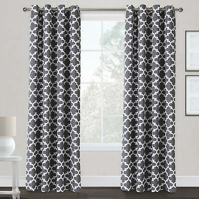 The Curated Nomad Ames Sateen Woven Blackout Grommet Top Throughout The Curated Nomad Duane Jacquard Grommet Top Curtain Panel Pairs (#34 of 50)