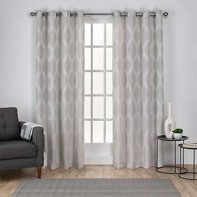 The Curated Nomad Ames Sateen Woven Blackout Grommet Top With Regard To The Curated Nomad Duane Jacquard Grommet Top Curtain Panel Pairs (#35 of 50)