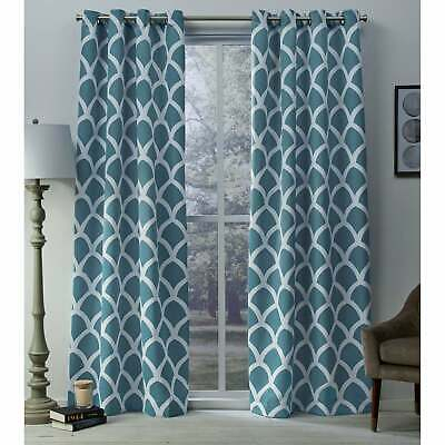 The Curated Nomad Ames Sateen Woven Blackout Grommet Top With The Curated Nomad Duane Jacquard Grommet Top Curtain Panel Pairs (#36 of 50)