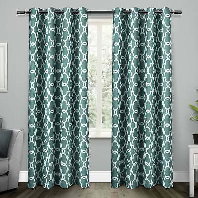 The Curated Nomad Ames Sateen Woven Blackout Grommet Top Within The Curated Nomad Duane Jacquard Grommet Top Curtain Panel Pairs (#38 of 50)
