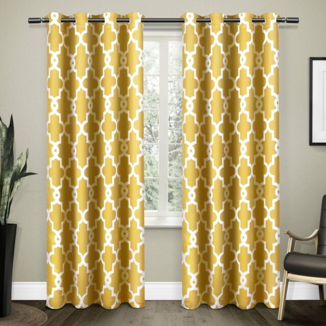 The Curated Nomad Duane Blackout Curtain Panel Pair For The Curated Nomad Duane Jacquard Grommet Top Curtain Panel Pairs (#39 of 50)
