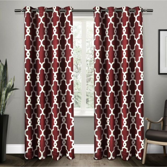 Popular Photo of The Curated Nomad Duane Jacquard Grommet Top Curtain Panel Pairs