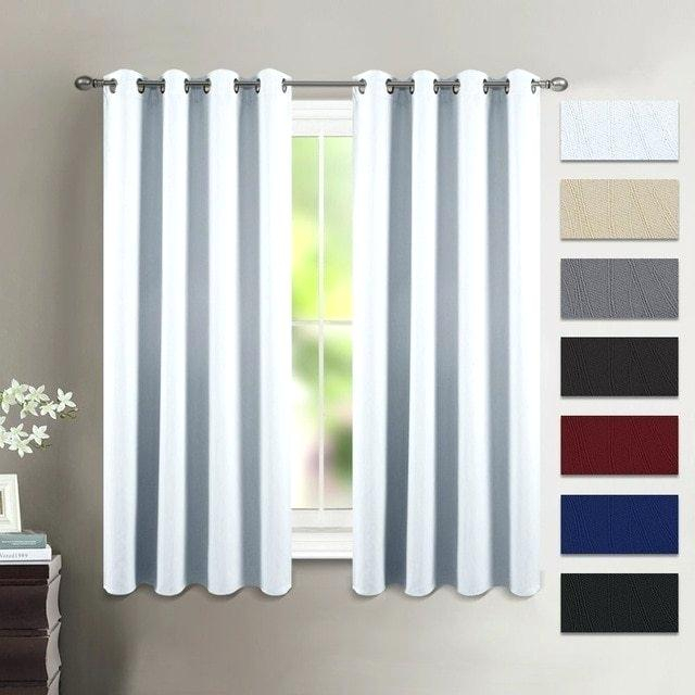 Thermal Curtain Panels With Embossed Thermal Weaved Blackout Grommet Drapery Curtains (View 37 of 42)