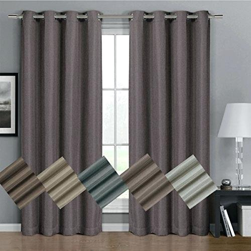 Thermal Or Insulated Curtains – Acane With Cooper Textured Thermal Insulated Grommet Curtain Panels (View 50 of 50)