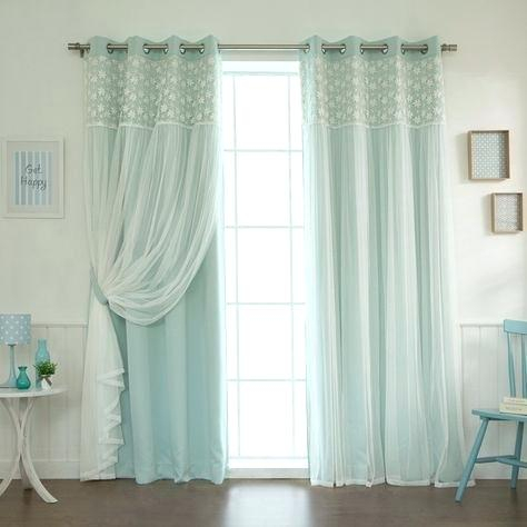 Thermal Sheer Curtains Aurora Home Floral Lace Overlay In Insulated Blackout Grommet Window Curtain Panel Pairs (#35 of 37)