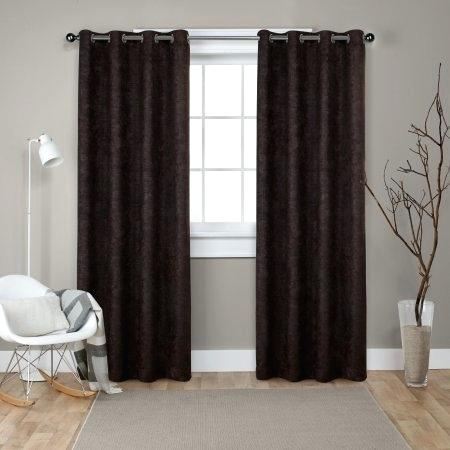 Thermal Window Curtains Pertaining To Raw Silk Thermal Insulated Grommet Top Curtain Panel Pairs (#42 of 46)