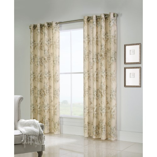 Thermalogic Caldwell Lined Grommet Top Curtain Single Panel Throughout Caldwell Curtain Panel Pairs (View 21 of 27)