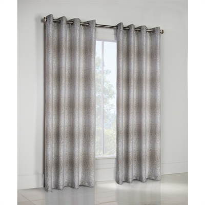 Thermalogic Optic 95 In Taupe Lined Grommet Single Curtain Panel Throughout Lined Grommet Curtain Panels (#28 of 31)