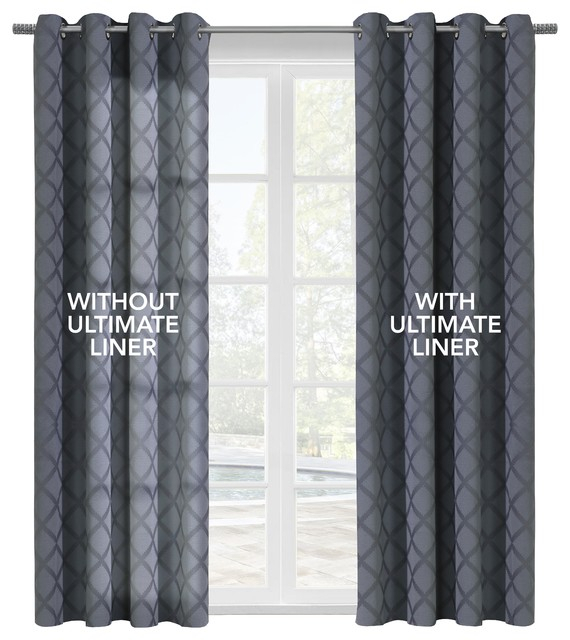 """Thermalogic """"ultimate Liner"""" Blackout Liner, 45""""x101"""" For Tacoma Double Blackout Grommet Curtain Panels (View 40 of 48)"""