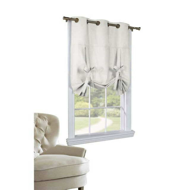 Thermalogic Weather Mate Cotton Duck Fabric 40 X 63 Tie Up Panel White Regarding Prescott Insulated Tie Up Window Shade (View 16 of 45)