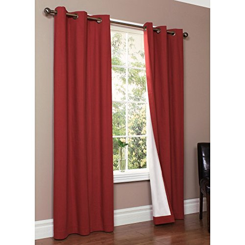 """Thermalogic Weathermate Solid Insulated Grommet Top Curtain  Panel/pairs Burgundy, 80 X 63"""" For Curtain Panel Pairs (View 24 of 26)"""