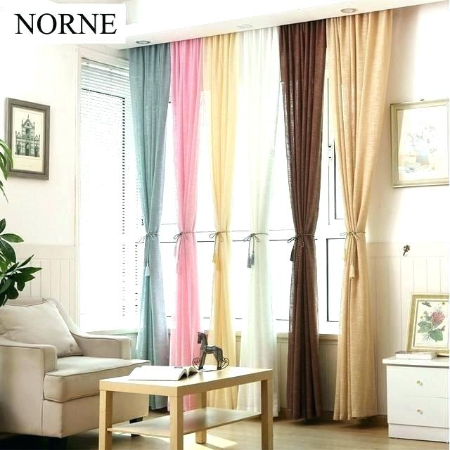 Thick White Curtains – Bel Art Design Intended For Solid Country Cotton Linen Weave Curtain Panels (#43 of 50)
