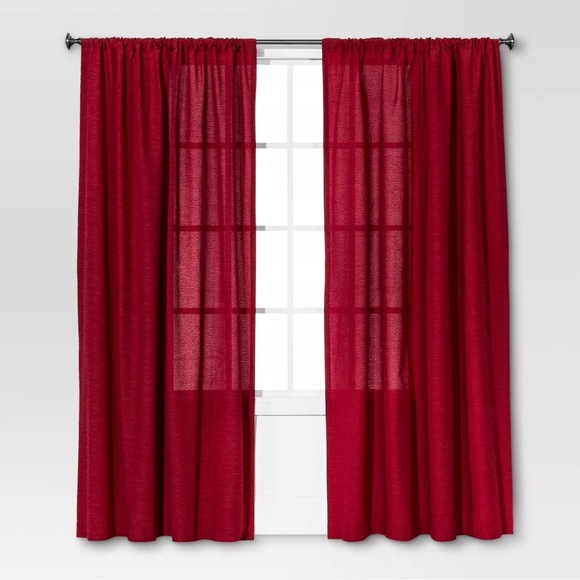 """Threshold Farrah 95"""" Curtain Panel Pair – Ruby For Curtain Panel Pairs (View 25 of 26)"""