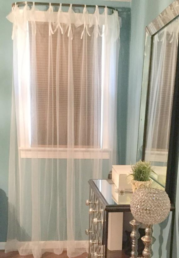 Tie Top Sheer Curtain Panel – Home Decor Drapery Light Filtering Drapes  Privacy Bedroom Decoration Fabric Nursery Window Curtain Design Intended For Light Filtering Sheer Single Curtain Panels (#36 of 38)