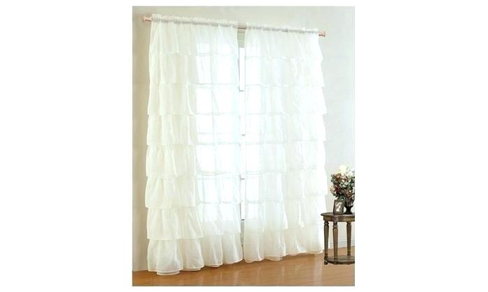 Tiered Ruffle Curtain Panel – Jburns (View 40 of 50)