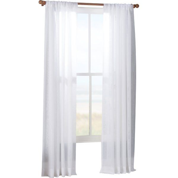 Tiya Double Layered Solid Sheer Single Curtain Panel Intended For Double Layer Sheer White Single Curtain Panels (View 45 of 50)