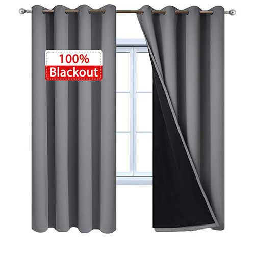Top 10 Best Noise Reducing Curtains In 2019 Reviews – Spare Mine Within Superior Solid Insulated Thermal Blackout Grommet Curtain Panel Pairs (#42 of 45)
