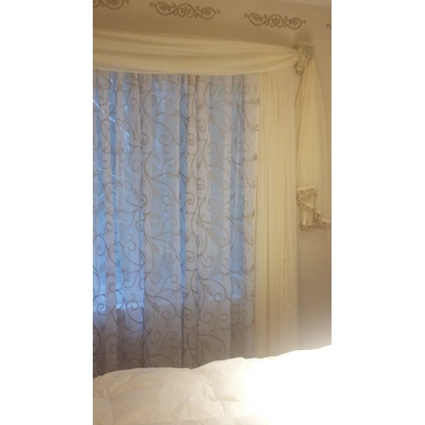 Top Product Reviews For Amrapur Overseas Leaf Swirl Inside Overseas Leaf Swirl Embroidered Curtain Panel Pairs (View 3 of 50)