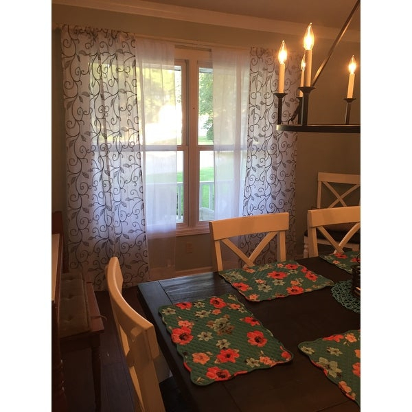 Top Product Reviews For Amrapur Overseas Leaf Swirl Pertaining To Overseas Leaf Swirl Embroidered Curtain Panel Pairs (View 6 of 50)