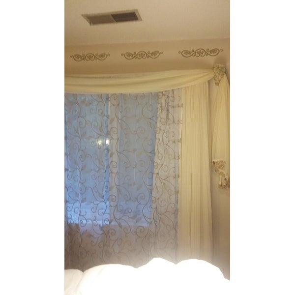 Top Product Reviews For Amrapur Overseas Leaf Swirl Pertaining To Overseas Leaf Swirl Embroidered Curtain Panel Pairs (View 8 of 50)