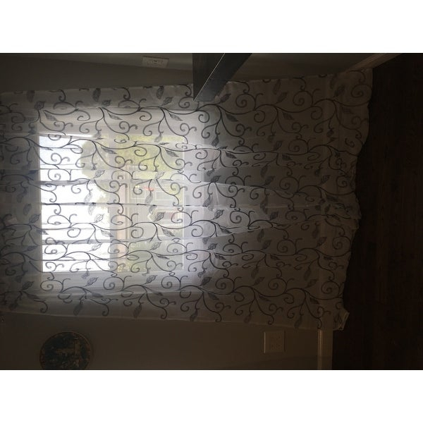 Top Product Reviews For Amrapur Overseas Leaf Swirl With Regard To Overseas Leaf Swirl Embroidered Curtain Panel Pairs (View 11 of 50)