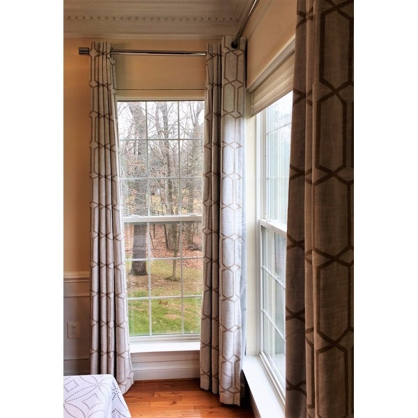 Top Product Reviews For Kaiden Geometric Room Darkening Pertaining To Kaiden Geometric Room Darkening Window Curtains (#38 of 39)