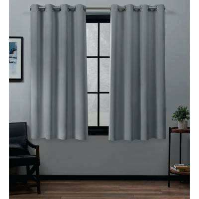 Total Blackout Curtains Canada | Flisol Home In Sunsmart Dahlia Paisley Printed Total Blackout Single Window Curtain Panels (#39 of 45)