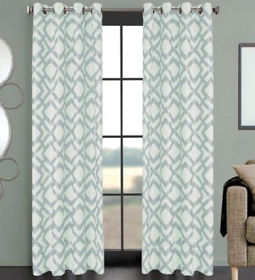 Total Blackout Curtains Design Solutions Grommet Top Panel Intended For Total Blackout Metallic Print Grommet Top Curtain Panels (#45 of 50)