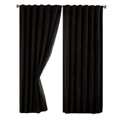 Total Blackout Faux Velvet Curtain Panel Within Superior Solid Insulated Thermal Blackout Grommet Curtain Panel Pairs (#43 of 45)