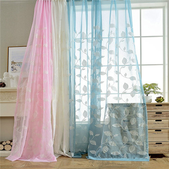 Tree Leaves Embroidered Sheer Curtains Kids Curtains Decorative Rod Pocket  Top Window – Buy Embroidered Curtain Sheer Fabric,embroidered With Regard To Kida Embroidered Sheer Curtain Panels (#42 of 50)