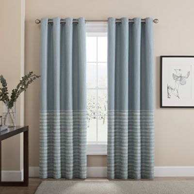 "Tremor 108"" Grommet 100% Blackout Window Curtain Panel In Regarding Bethany Sheer Overlay Blackout Window Curtains (View 45 of 50)"