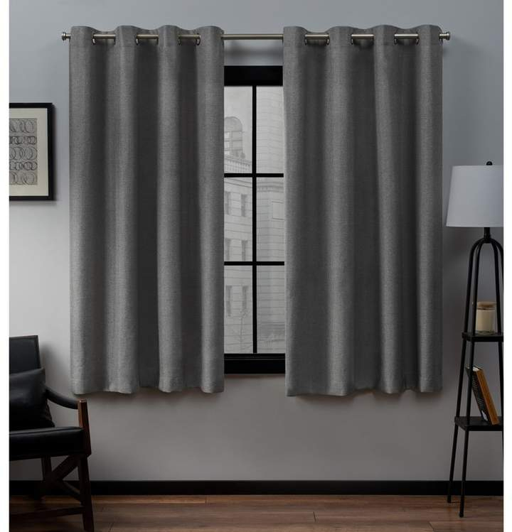 Trent Austin Design Heil Solid Color Semi Sheer Grommet For Solid Grommet Top Curtain Panel Pairs (View 29 of 35)