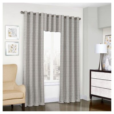 """Trevi Thermalined Curtain Panel Gray (52""""x108"""") – Eclipse Pertaining To Eclipse Trevi Blackout Grommet Window Curtain Panels (View 25 of 26)"""