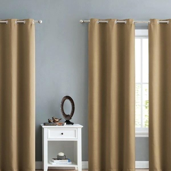 Triple Weave Blackout Window Curtain Panel 4 Pack Curtains With Regard To Meridian Blackout Window Curtain Panels (#47 of 50)