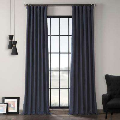 True Navy Blue French Linen Curtain – 50 In. W X 96 In (View 48 of 50)