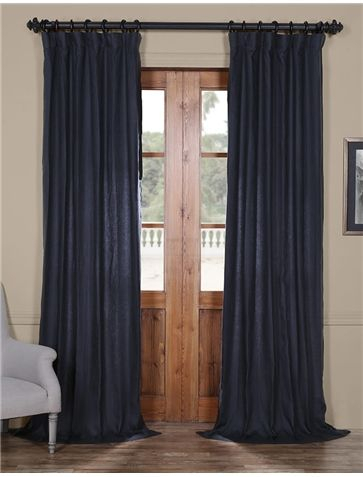 True Navy French Linen Curtain | One Day | Linen Curtains Regarding French Linen Lined Curtain Panels (#49 of 50)