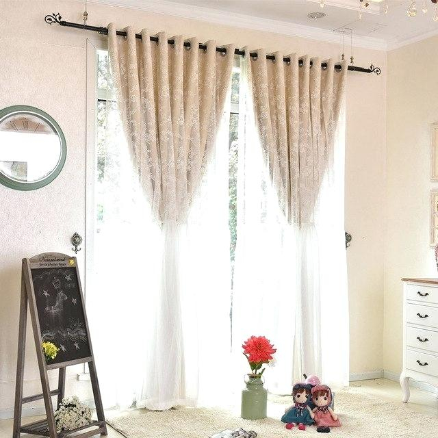 Tulle Blackout Curtains – Eminsakir For Star Punch Tulle Overlay Blackout Curtain Panel Pairs (#47 of 50)