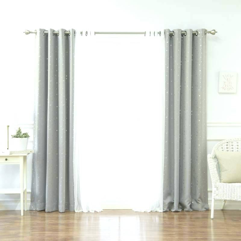 Tulle Blackout Curtains – Home Ideas Decor Within Star Punch Tulle Overlay Blackout Curtain Panel Pairs (#48 of 50)