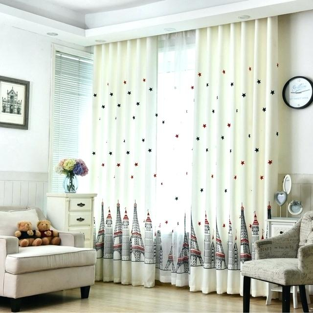 Tulle Blackout Curtains – Jiangsuysh Within Star Punch Tulle Overlay Blackout Curtain Panel Pairs (#50 of 50)