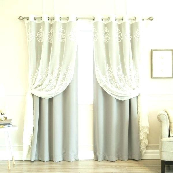 Tulle Blackout Curtains – Trapfreeoregon Pertaining To Mix & Match Blackout Tulle Lace Bronze Grommet Curtain Panel Sets (View 15 of 50)
