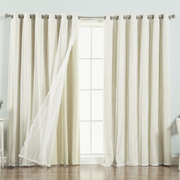 Tulle Curtains | Wayfair In Mix & Match Blackout Tulle Lace Bronze Grommet Curtain Panel Sets (View 9 of 50)