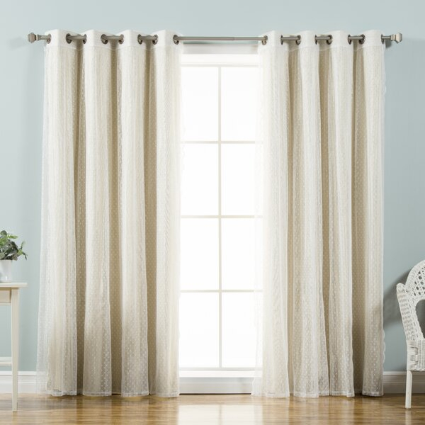 Tulle Lace Curtain | Wayfair Within Mix And Match Blackout Tulle Lace Sheer Curtain Panel Sets (#48 of 50)