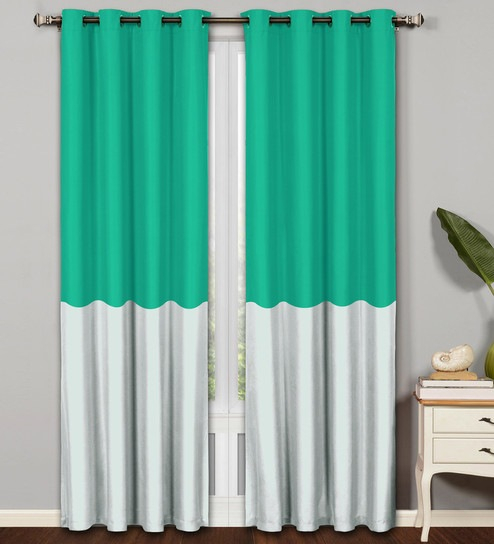Turquoise And Silver Curtains For Delano Indoor/outdoor Grommet Top Curtain Panel Pairs (View 36 of 45)