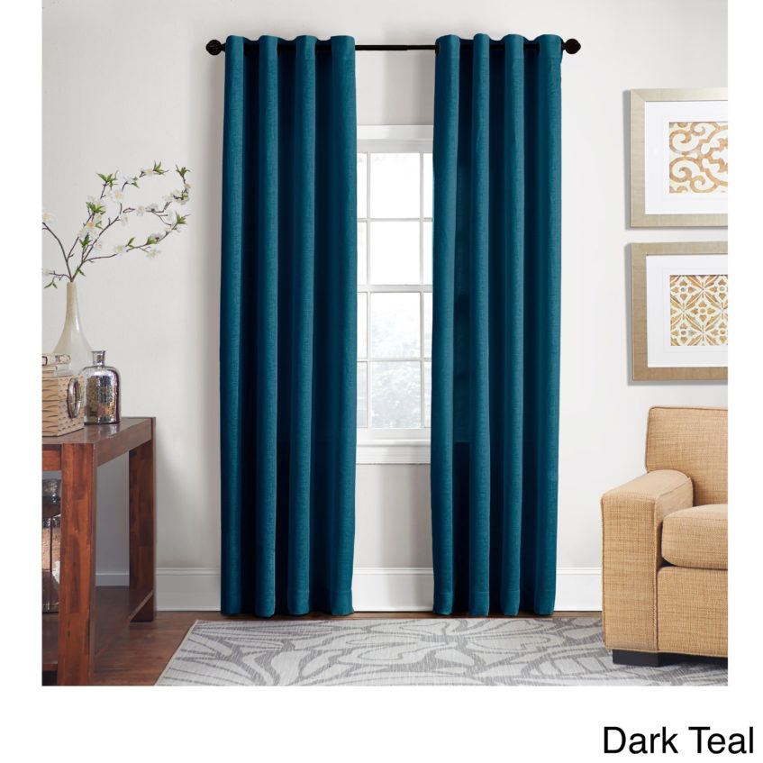 Turquoise Window Panel Grand Luxe Percent Linen Gotham For Wavy Leaves Embroidered Sheer Extra Wide Grommet Curtain Panels (#39 of 50)