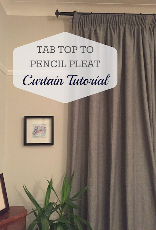 Tutorial: Tab Top To Pencil Pleat Curtains Makeover – Dekko Bird In Knotted Tab Top Window Curtain Panel Pairs (#38 of 50)
