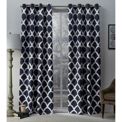 Twig Black Pearl Insulated Blackout Grommet Top Window Within Geometric Print Textured Thermal Insulated Grommet Curtain Panels (View 44 of 45)